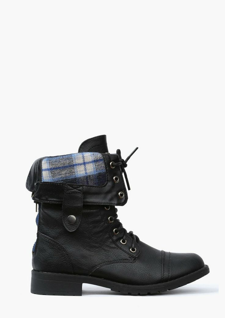 Combat style short boots
