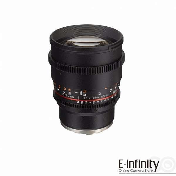 Samyang 85mm T1.5 VDSLRII Cine Lens for Sony E-Mount