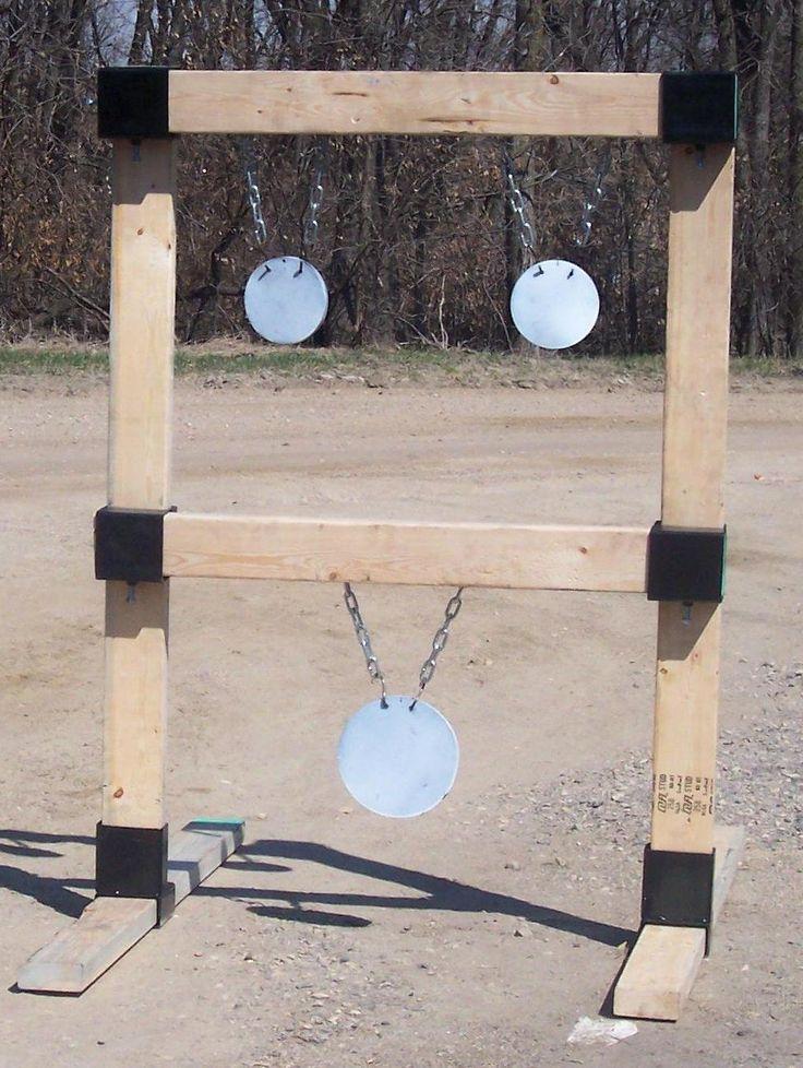 2x4 Hanging Target Stand Custom Steel Targets Plate Racks