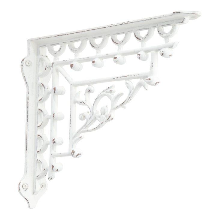 Mediterranean Iron Shelf Bracket - Distressed White