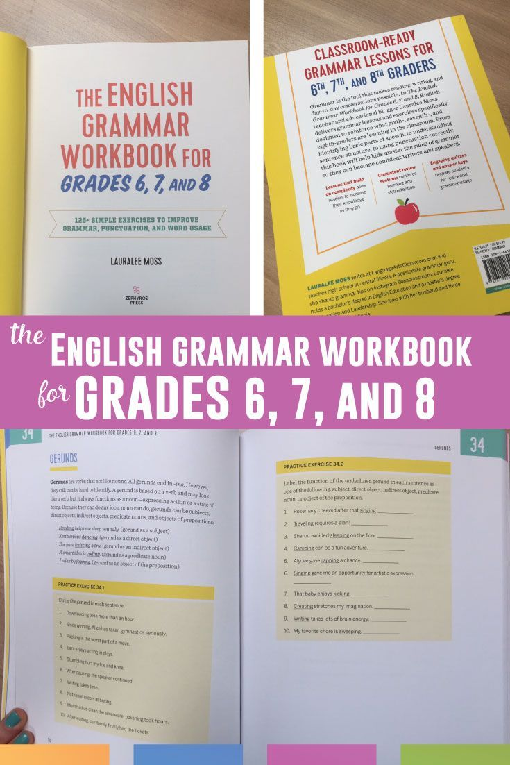 hight resolution of The English Grammar Workbook for Grades 6
