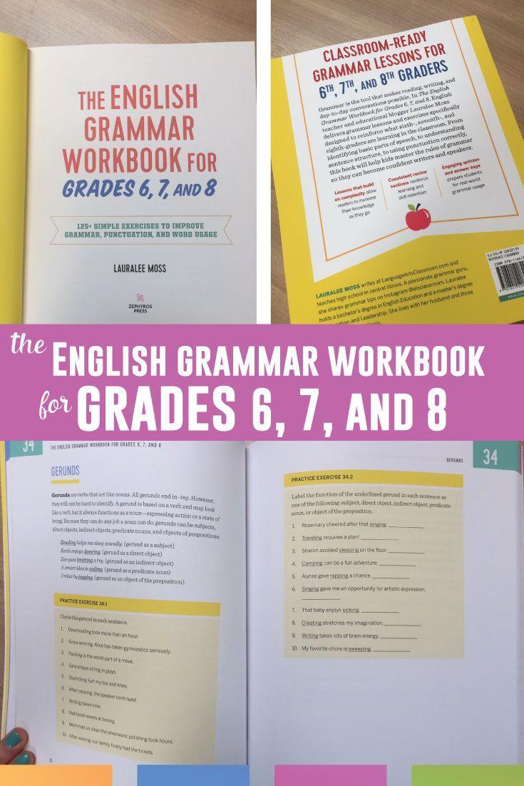 medium resolution of The English Grammar Workbook for Grades 6