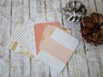 PL 3x4 Journaling Cards Rose/Gold - 1x6 Motive
