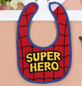 3Pcs/lot Boys Waterproof Bibs Superman Superhero Cartoon Kids Comfortable towel infants Cotton Burp Cloths bibs baby stuff