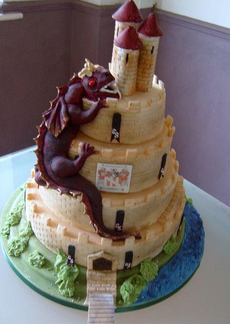 medieval themed wedding cake by CakesbyShelly, via Flickr ...