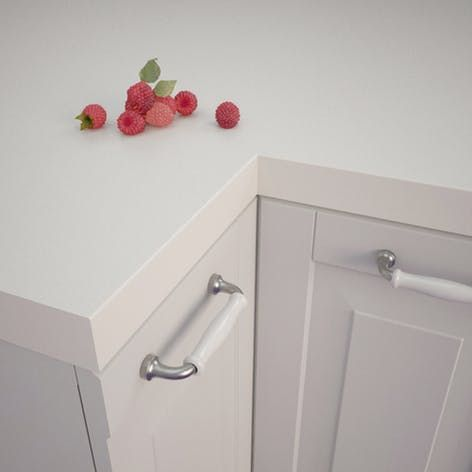 Getalit Plain White (A 242 C) Square Edged Worktop (4100mm x 650mm x 39mm) | Rearo Laminates