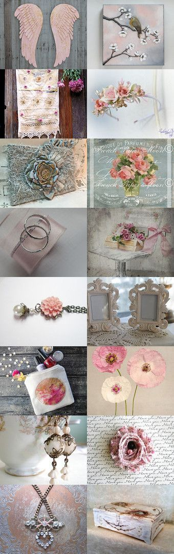 Angel Wings by Alta on Etsy--Pinned+with+TreasuryPin.com #etsy #believe #romanticocasion #wedding #shebbychic #floral #weddinggifts