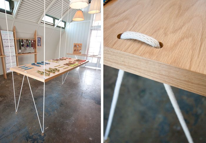 31 Bits Retail Space. Incredible suspended table. #design