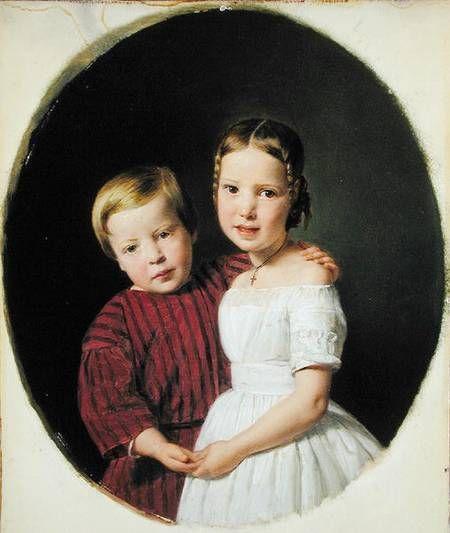 Bild:  Ferdinand Georg Waldmüller - Portrait of Two Children