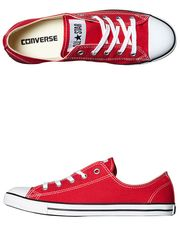 CONVERSE+CHUCK+TAYLOR+ALL+STAR+DAINTY+LO+SHOE+-+RED+on+http://www.surfstitch.com