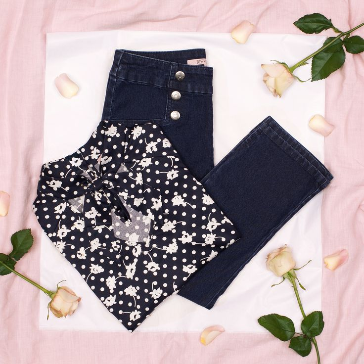 Domino Top | Navy And Multi | Top
