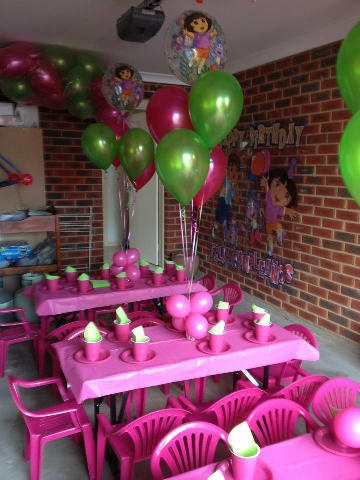 Pink Dora Party, cute!
