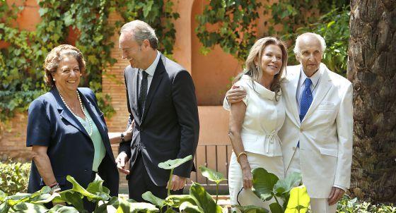 Alicia Koplowitz y Romero de Juseu Marquesa de Bellavista, Rita Barbera, Santiago Grisolia y Alberto Fabra