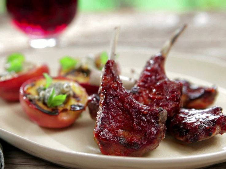 Fire Roasted Baby Lamb Chops with Smoked Paprika-Orange BBQ Sauce recipe from Bobby Flay via Food Network