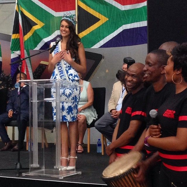 Rolene Strauss Miss World 2012 homecoming in South Africa