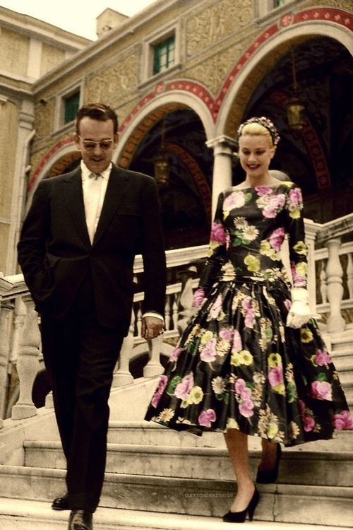 Grace Kelly And Prince Rainier. This May Be On Their First Date.