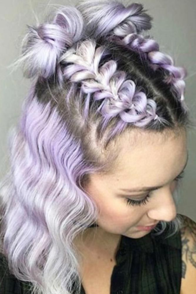 braid styles for medium hair best 20 braided hairstyles ideas on 6029 | b5631944c2a5d9b53340d36206d9cda7 unicorn hair dyed hair