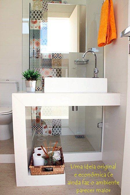 17 melhores imagens sobre decora o banheiro no - Lavabos modernos pequenos ...