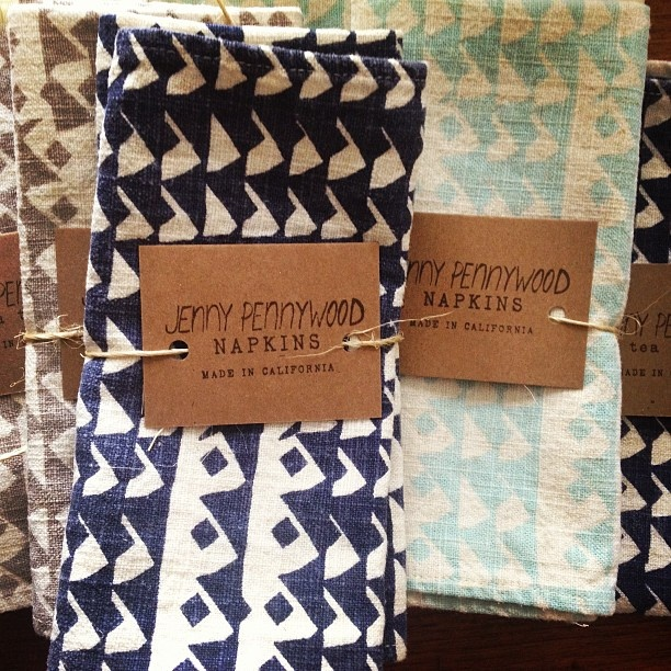 Coming soon! Screen printed linen tea towels and napkins #jennypennywood