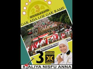 Caleg dprd Kota Malang 2014 dari PKS Nomer urut 8, Aliya Nisfu Anna, Mohon di Coblos!.