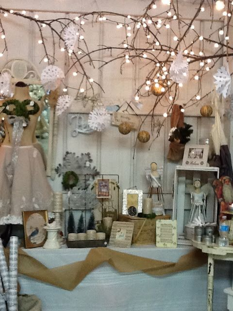 Jennifer Rizzo: 3 French hens.....those branches with lights would be inexpensive and wonderful for the booth at Christmas.