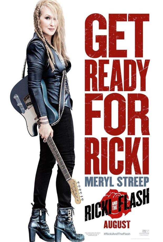 RICKI & THE FLASH (2015) - Meryl Streep - Rick Springsteen - Kevin Kline - TriStar Pictures - Movie Poster.