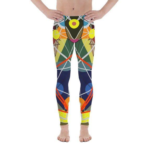 Men's Leggings Multi-Colored Art Pattern Leggings Sexy Leggings Men's Gift Running Yoga Workout Gifts for Boyfriend Brother Husband Son Dad
