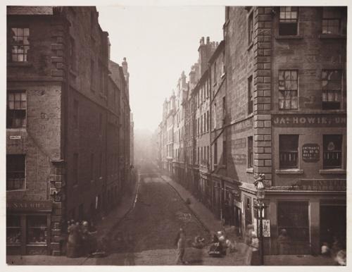 Bell Street, From High Street, Glasgow, 1868