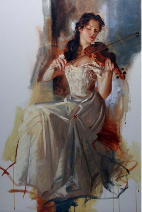 Original Painting, La Seranata by Richard Johnson -repinned by http://LinusGallery.com #art #artists #oilpainting