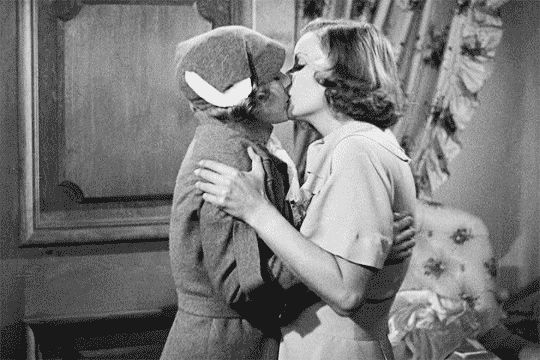 "allgarbo: """"Greta Garbo kissing Elizabeth Young, Elizabeth Allan and Cecilia Parker. "" """