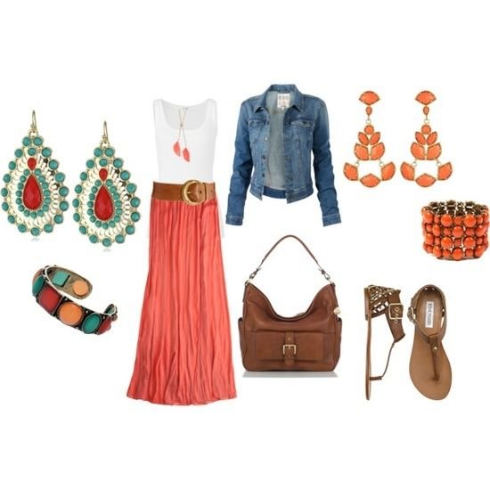 Coral Maxi Skirt outfits