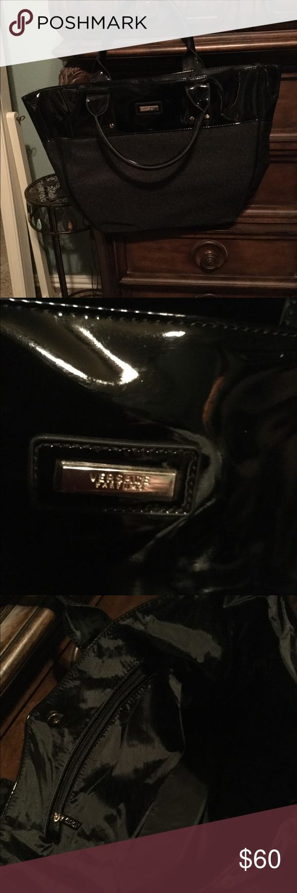 Oversized bag 16x16 Black Versace brand new with dust bag Versace Bags Totes