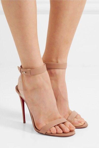 57956957e719 Christian Louboutin - Jonatina 100 Pvc-trimmed Leather Sandals - Neutral   sandals  heels