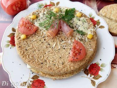 Di gotuje: Kruchy przekładaniec z żółtym serem