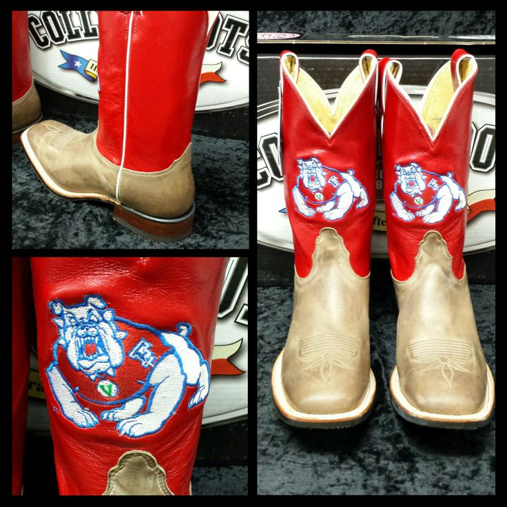 Fresno State Boots Red Find This At Bulldog Fan Zone