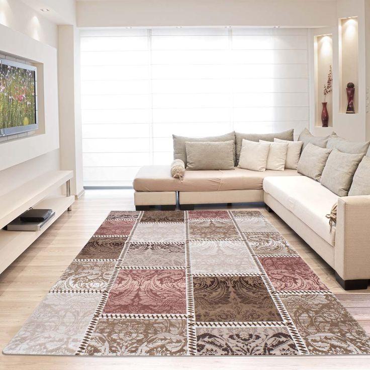Vloerkleed uit de collectie Safranbolu met een symmetrisch patroon. Is geschikt voor een vertrek met vloerverwarming en makkelijk in onderhoud