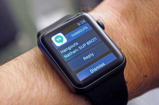 Το Goolge Hangouts τώρα και στο Apple Watch