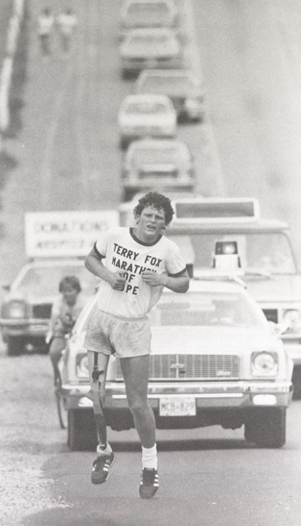 Terry Fox was born in Winnipeg, Manitoba, and raised in Port Coquitlam, British Columbia, a community near Vancouver on Canada's west coast. An active teenager involved in many sports, Terry was only 18 years old when he was diagnosed with osteogenic sarcoma (bone cancer) and forced to have his right leg amputated 15 centimetres (six inches) above the knee in 1977. While in hospital, Terry was so overcome by the suffering of other cancer patients, many of them young children, that he…