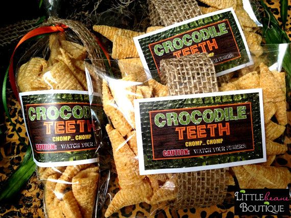 Crocodile Teeth StickersAfrican Safari by LittlebeaneBoutique