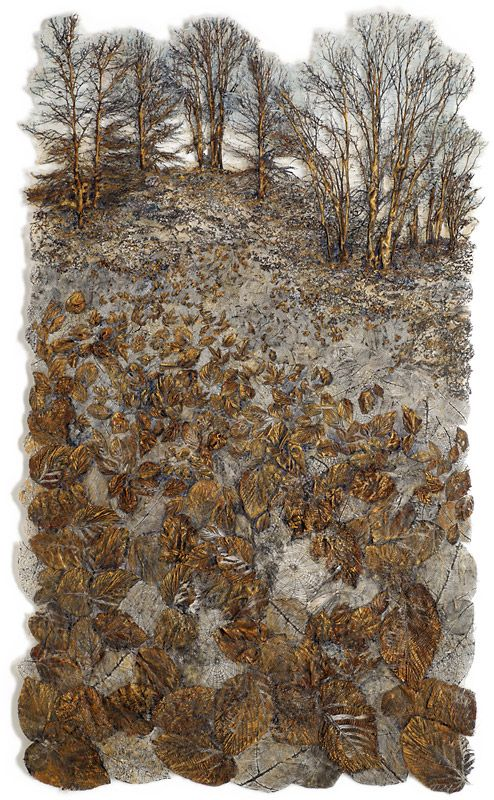 Lesley Richmond, Canada. Prints, cuts, paints and creates wonderful works of textile art.