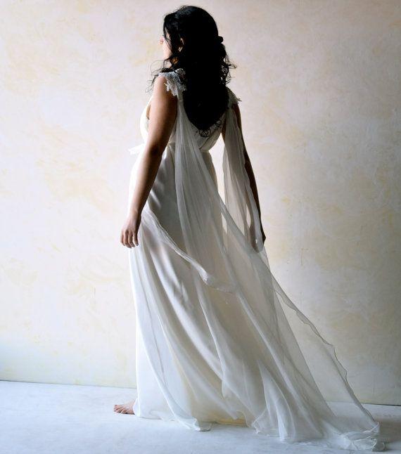 Wedding Dress Boho wedding dress Ethereal wedding by LoreTree
