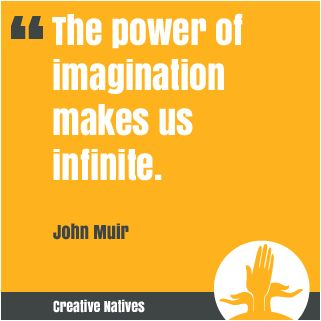The power of the imagination makes us infinite. John Muir