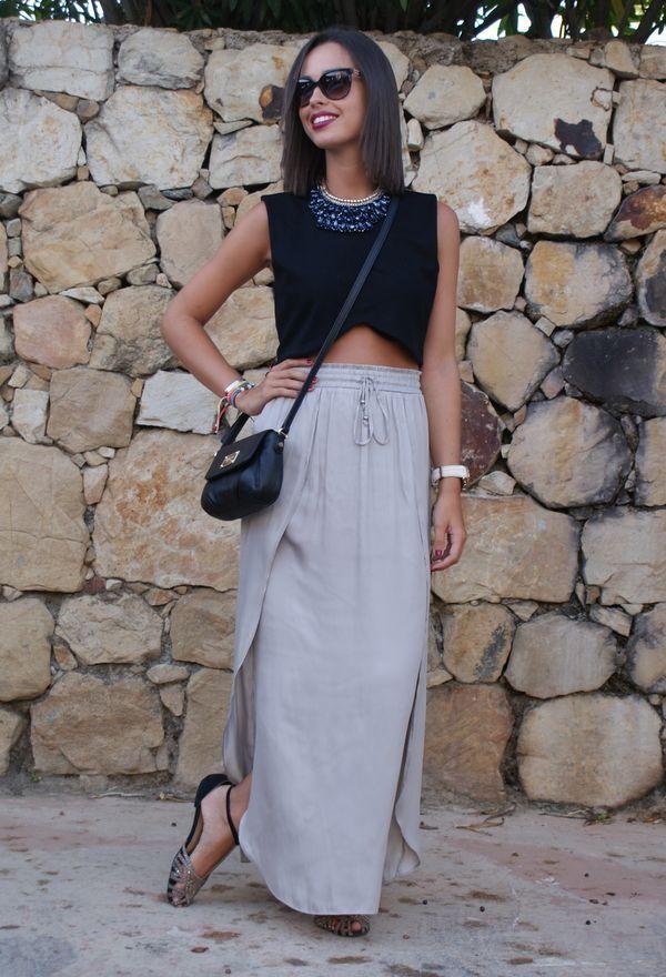 Asombrosas faldas de moda largas | Moda en faldas                                                                                                                                                                                 Más