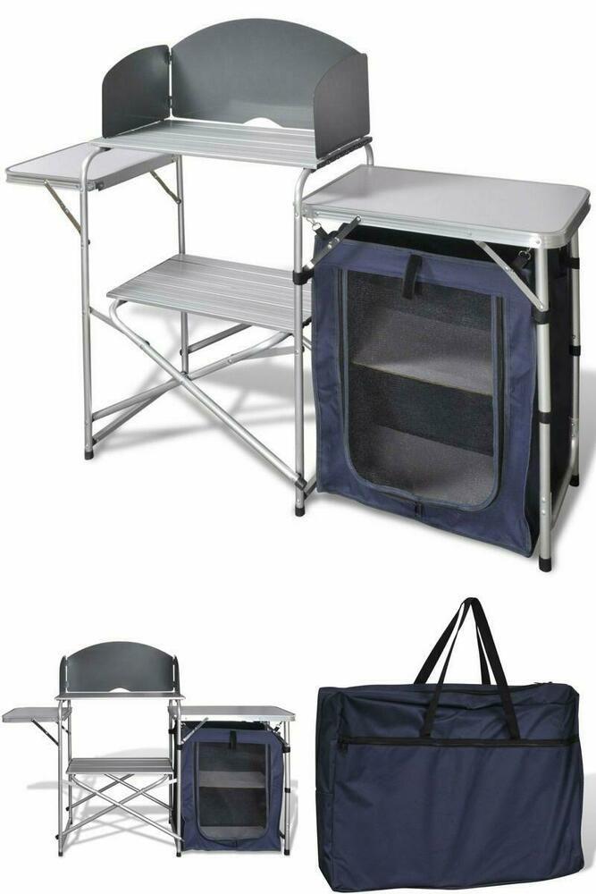 Outdoor Kitchen Unit Camping Garden Travel Barbeque Storage