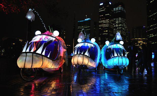 Illuminated Fish Bikes in Sydney- Vivid