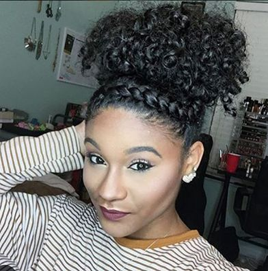 Curly Puff And Faux Twist Band Style IG:@_kharissa ‪#‎naturalhairmag‬