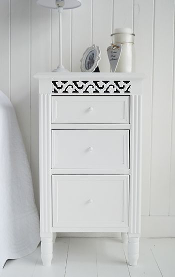 White bedside cabinet from The White Lighhtouse Furniture