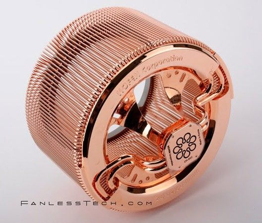 This looks nice..    ** a fanless copper CPU cooler.: Computers, Tech Toys, Stuff, Fans, Nofan Cr 95C, Cpu Coolers, Fanless Copper, Fanless Cpu, Copper Cpu