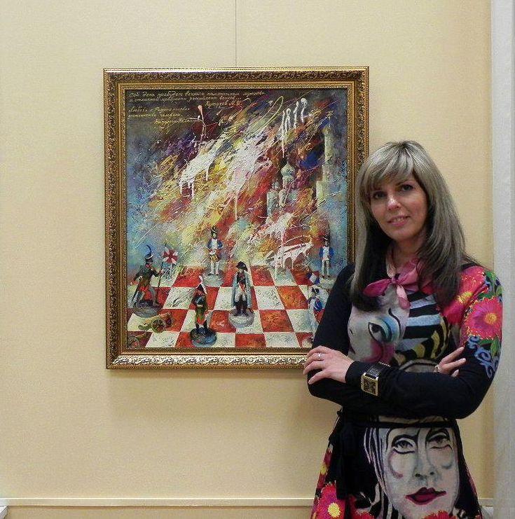 Живописец Моисеева Лиана Николаевна. Характерными формами выражения являются пейзажи, натюрморты и композиций, основанные на построении художественных образов.