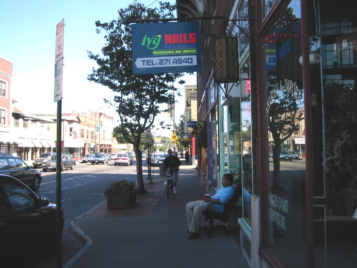 Walking down Monroe Avenue in Rochester, NY...When I was 18 or 19 I walked along this street all of the time